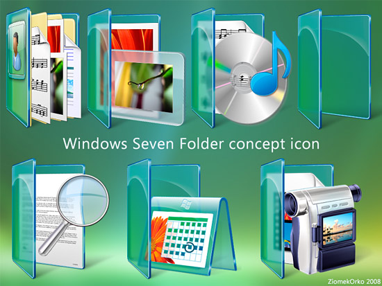 Win Sewen Folder concept icon