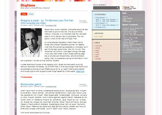 Smashing Wordpress-Theme zdarma ke stažení