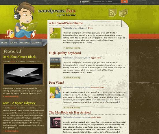 Wordpress Fun Free Wordpress Theme zdarma ke stažení