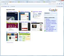 Google Chrome - nová záložka