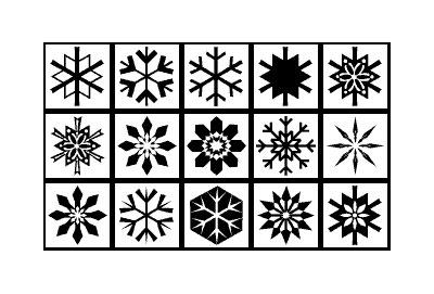 Sněhové vločky (Snowflake Shapes)