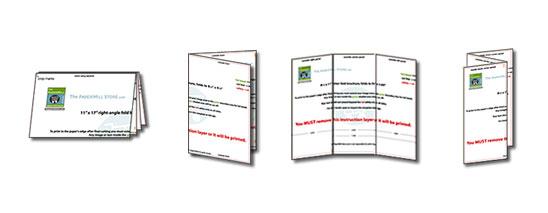 Prázdné šablony brožur zdarma ke stažení
