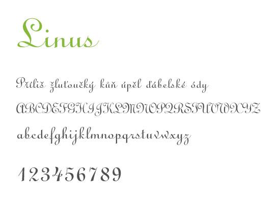 Linus -nejstahovanější font za květen - české fonty zdarma ke stažení