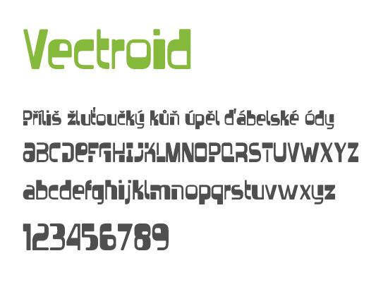 Vectroid -nejstahovanější font za květen - české fonty zdarma ke stažení