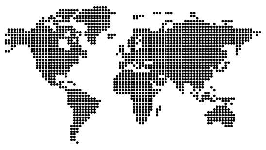 Mapy celého světa: vektory, tvary, fonty