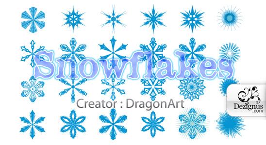 Sněhové vločky - vektory ke stažení