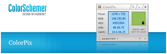 ColorPix - kapátko pro zjišťování barev
