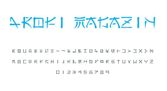 Asijské fonty ke stažení zdarma