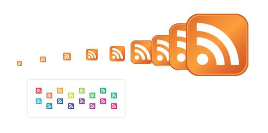 Standardní RSS ikony