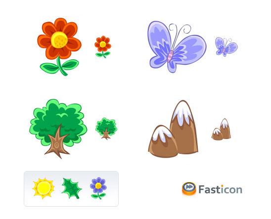 Květiny - ikony, vektory, brushe ke stažení zdarma
