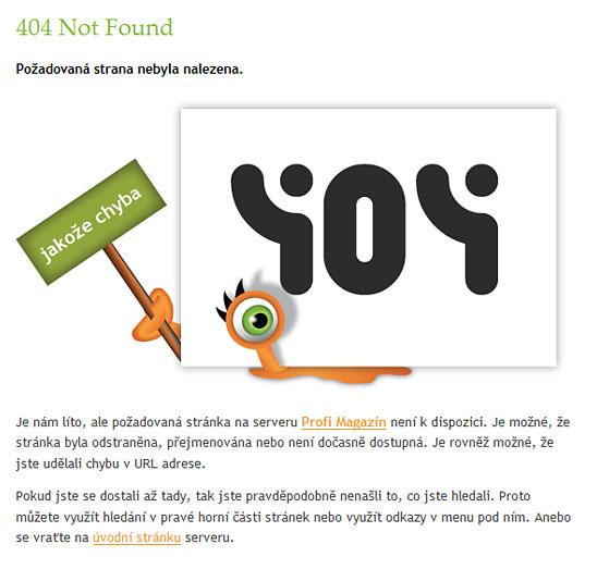 Stránka nebyla nalezena (404 Error: Not Found)