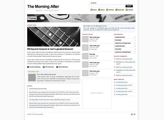 The Morning After theme pro WordPress zdarma ke stažení