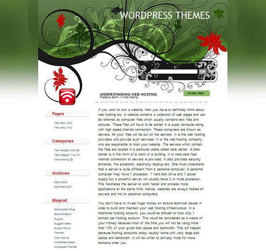 Japanese Fleur - WordPress Theme zdarma ke stažení