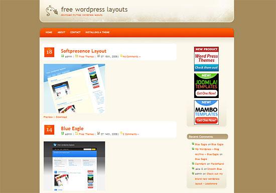 Fieldofsand - Wordpress Theme zdarma ke stažení