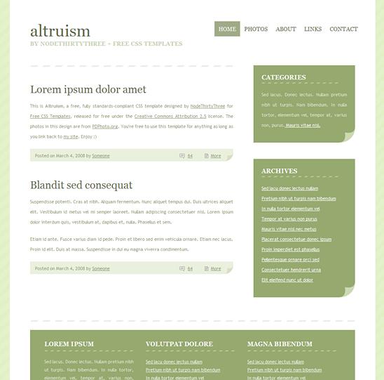 CSS šablony zdarma ke stažení