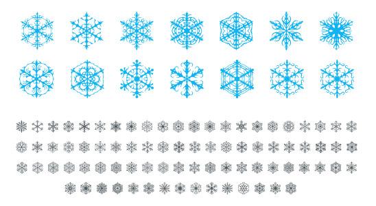 Sněhové vločky - font ke stažení