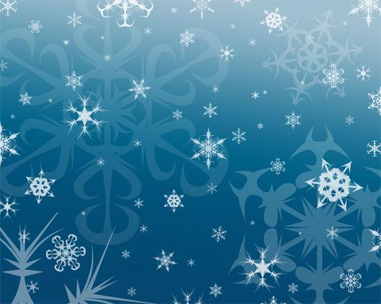 Sněhové vločky - wallpaper ke stažení