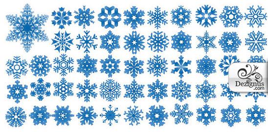 Sněhové vločky - shapy ke stažení