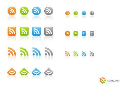 RSS ikony - zdarma ke stažení