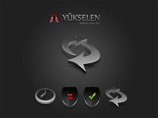 Yukselen Website iconset